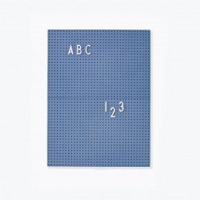 Design Letters A4 Bokstavstavla - Blå