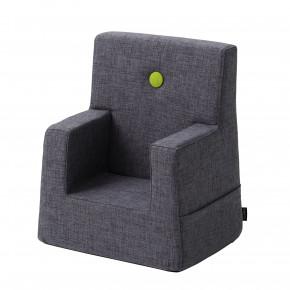 ByKlipKlap XL Stol - Blå/Grå med Grön Knapp