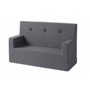 BY KLIPKLAP KK Kids soffa - Blå grå med grå knappar