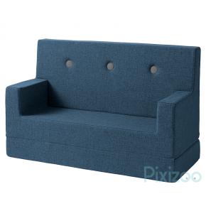 BY KLIPKLAP KK Kids soffa - Mörkblå med svarta knappar