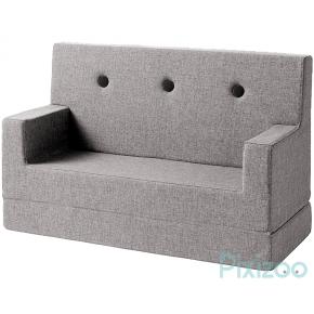 BY KLIPKLAP KK Kids soffa - Multi grå med grå knappar
