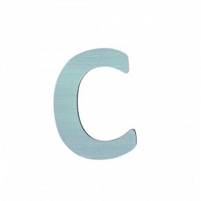 Sebra Träbokstav C - Blå