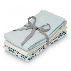CAM CAM tygblöja 3-pack - Fiori, blå och vit