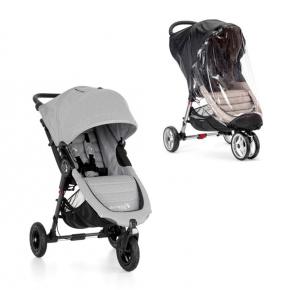 Baby Jogger City Mini GT Sittvagn + Regnskydd - Slate