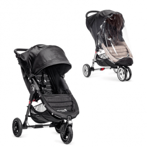 Baby Jogger City Mini GT Sittvagn + Regnskydd - Svart