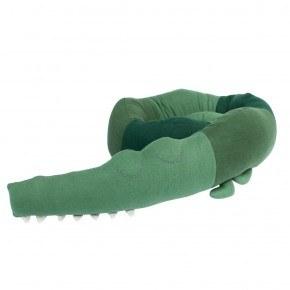 Sebra Sleepy Croc Stickad Kudde - Grön