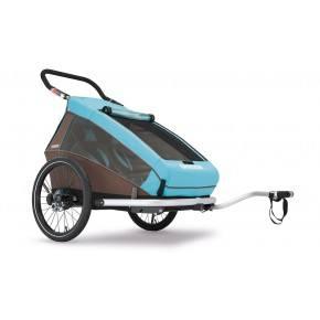 CROOZER Cykelvagn Kid 2 Plus - Blå