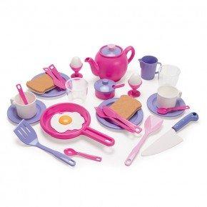 Dantoy Frukost Set - Rosa/Lila