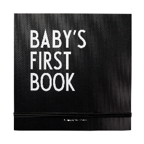 Design Letters Baby's First Book - Svart