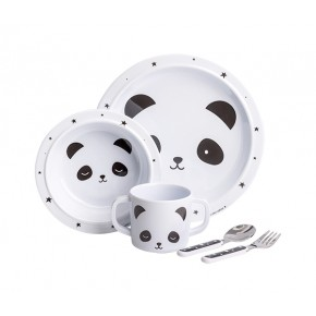 A Little Lovely Company Panda Servis - Vit