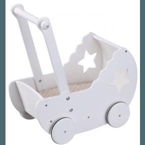 Kids Concept Dockvagn Bäddset - Vit/Beige