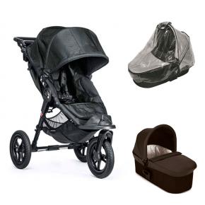 Baby Jogger City Elite Sittvagn, Deluxe Pram Liggdel & Regnskydd till Pram