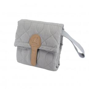 Sebra quiltad skötunderlag- elephant grey