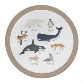 Sebra Arktiska Djur Melamintallrik