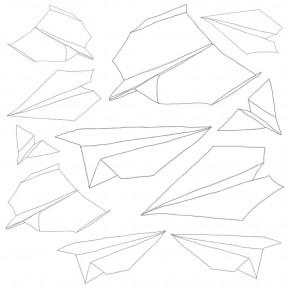 Sebra Pappersflygplan Wallsticker