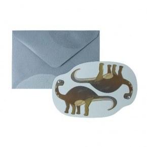 Sebra Dino Kort med Kuvert