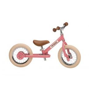 Trybike, balanscykel, 2 hjul - ljusrosa