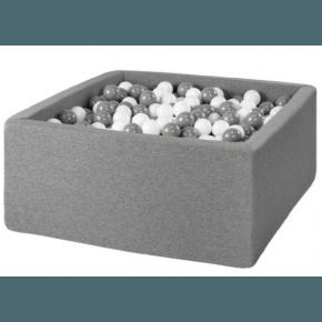 Bollhav Fyrkantigt 90 x 90 x 40 med 200 bollar - Grå