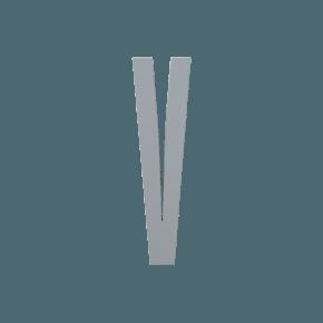 Design Letters Trä Bokstav V - Grå