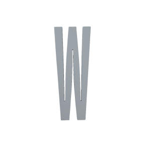 Design Letters Trä Bokstav W - Grå