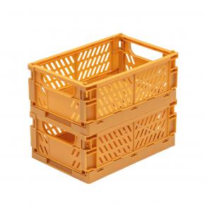 TINY REPUBLIC 2 st. vikbara lådor str. Medium - Mustard