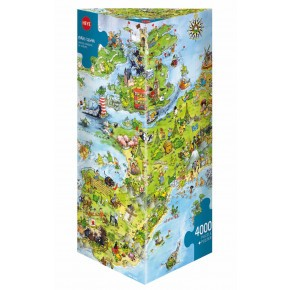 HEYE united dragons of europe puzzle - 4000 stycken