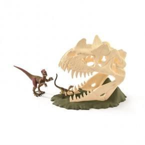 Schleich (42348) Stor Skelettfälla med Velociraptor