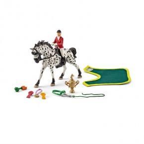 Schleich (41434) Hästhoppning med Knabstruppersto