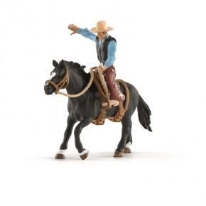 Schleich (41416) Sadlad Häst med Cowboy