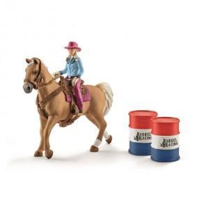 Schleich (41417) Barrel Racing med Cowgirl
