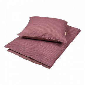 Filibabba junior sengetøj - Leafed dusty rose -  100x140 cm.