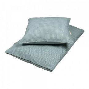Filibabba baby sengetøj - Leafed dark mint - 70x100 cm.