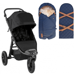 Baby Jogger City Elite 2 Jet + Sleepbag Åkpåse Petrol