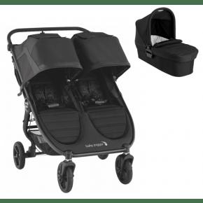 Baby Jogger City Mini GT 2 Double + Pram - Jet
