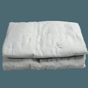 Fabelab Quiltad Filt 100x140 cm - Grå/Blå