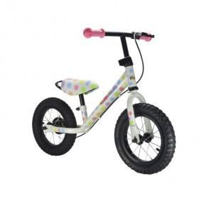 Kiddimoto Balanscykel Junior Max Super Dotty - Pastell