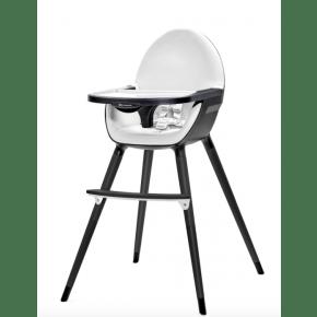 Kinderkraft Fini barnstol - svart/svart