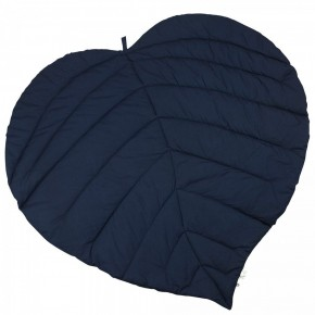 Müsli By Green Cotton Leaf Blanket - Navy