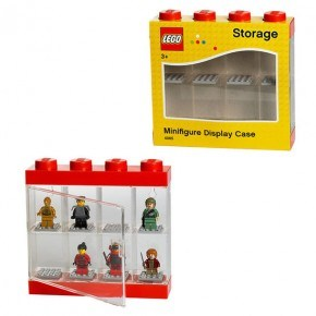 LEGO Minifigur Display Case - Röd
