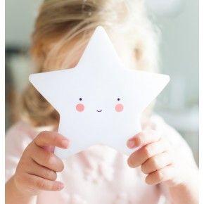 A Little Lovely Company Little Star Light Stjärnlampa - Vit