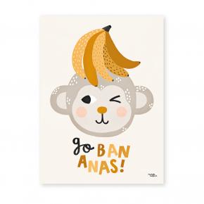 Michelle Carlslund Plakat 30 x 40 - Go Bananas