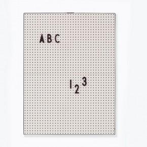 Design Letters A4 Bokstavstavla - Grå