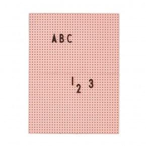 Design Letters A4 Bokstavstavla - Rosa
