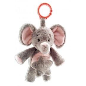 My Teddy My First Elephant Mobil - Grå Ljusröd
