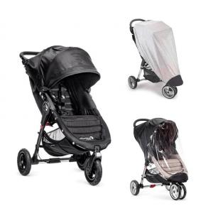 Baby Jogger City Mini GT Sittvagn, Regnskydd & Insektsnät - Svart