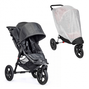 Baby Jogger City Elite Single Sittvagn + Insektsnät - Charcoal Denim