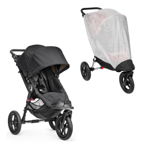 Baby Jogger City Elite Single Sittvagn & Insektsnät - Svart
