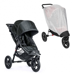Baby Jogger City Elite Single Titanium Sittvagn + Insektsnät