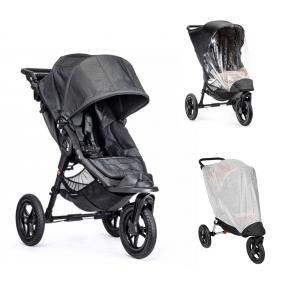 Baby Jogger City Elite Sittvagn, Regnskydd & Insektsnät - Charcoal Denim