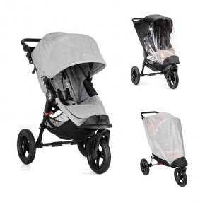 Baby Jogger City Elite Single Slate Sittvagn + Regnskydd & Insektsnät
